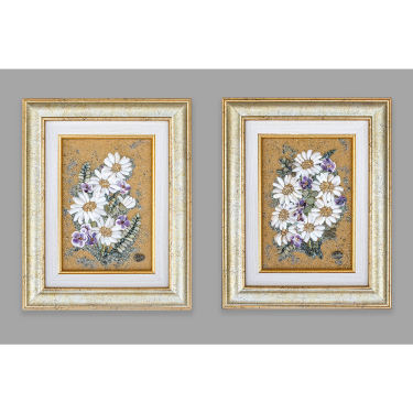 Small daisies - diptych