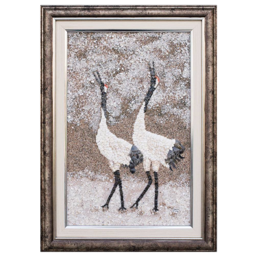 Japanese Crane in the snow 2